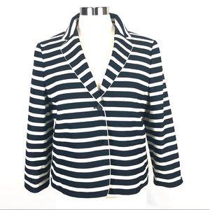 NWOT Ann Taylor Stripe blazer 12